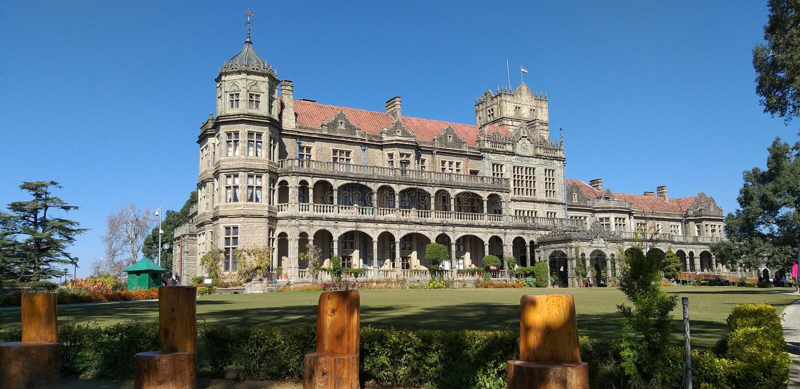 Skandalu punkt, grań, centrum handlowe droga, Shimla, India obraz royalty free