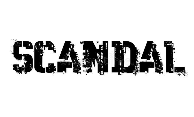 Skandalu typograficzny znaczek royalty ilustracja