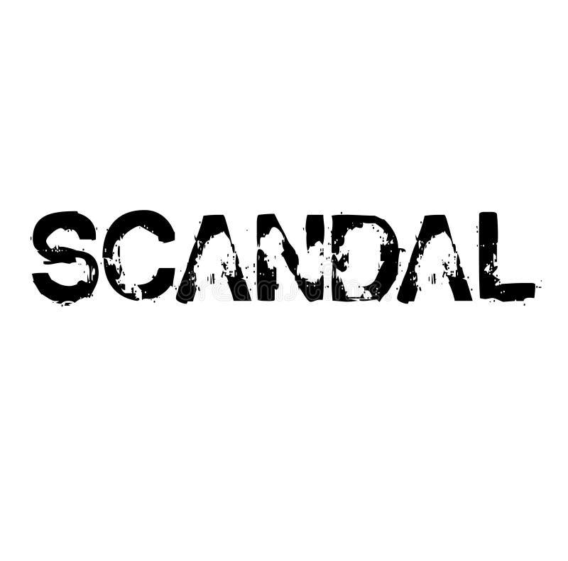 Skandalu znaczek royalty ilustracja