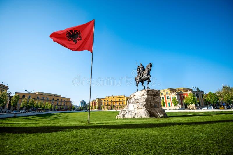 Skanderbeg-Quadrat lizenzfreies stockfoto