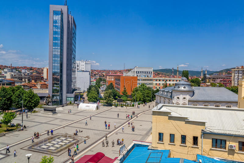 Skanderbeg-Quadrat Pristina stockbilder