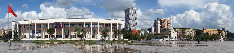 Skanderberg广场 免版税库存图片