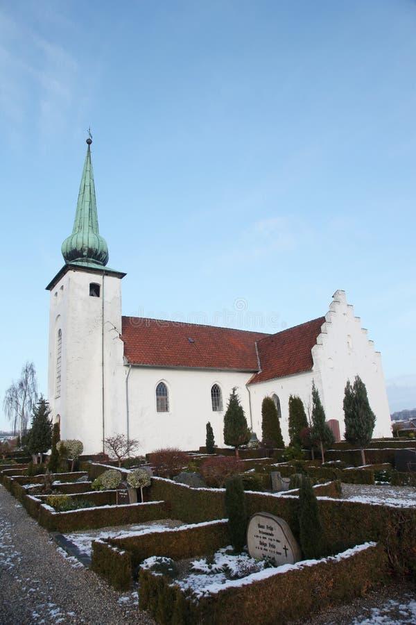 Skanderup教会在Skanderborg 免版税库存图片