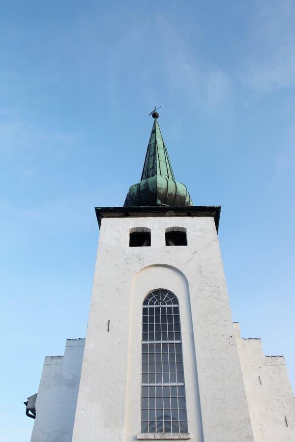 Skanderup教会在Skanderborg 库存照片