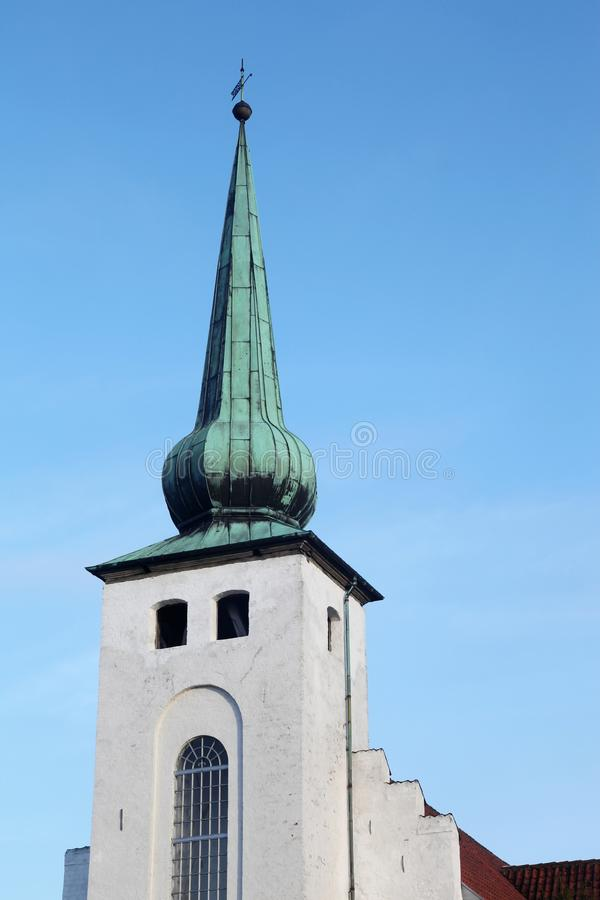 Skanderup kyrka i Skanderborg arkivbild
