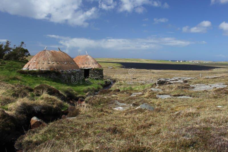 Skandinavier mahlen und darren Shawbost, Insel von Lewis, Schottland lizenzfreies stockbild