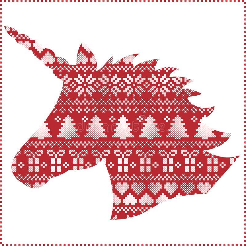 Skandinavier, Nordischer Artwinter Nähendes Weihnachtsnahtloses ...
