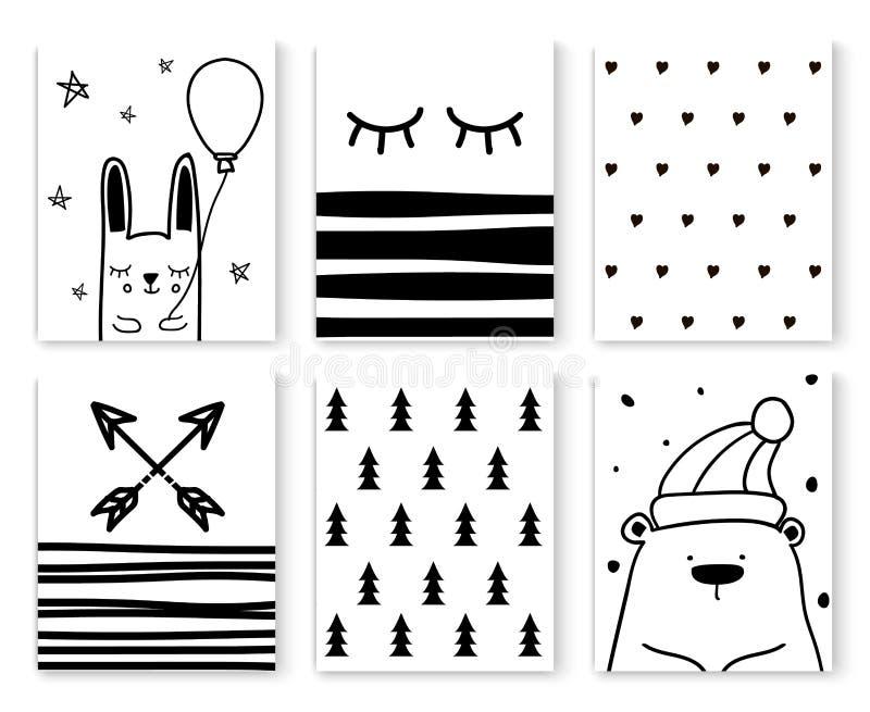 Skandinavisch patroon 1 vector illustratie