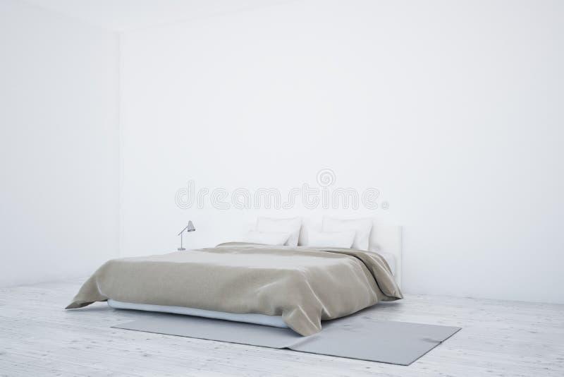 Skandinavisch slaapkamerbinnenland stock illustratie
