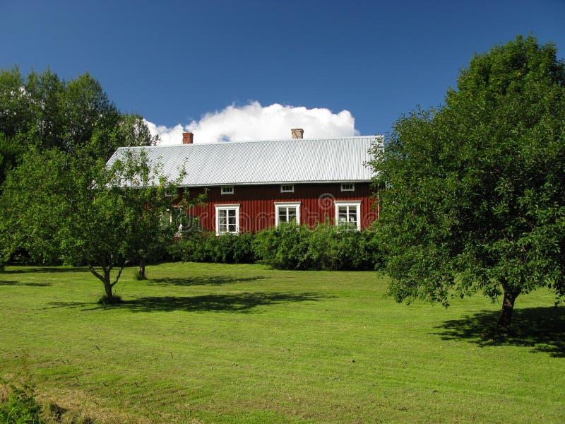 Skandinavische architectuur stock afbeeldingen