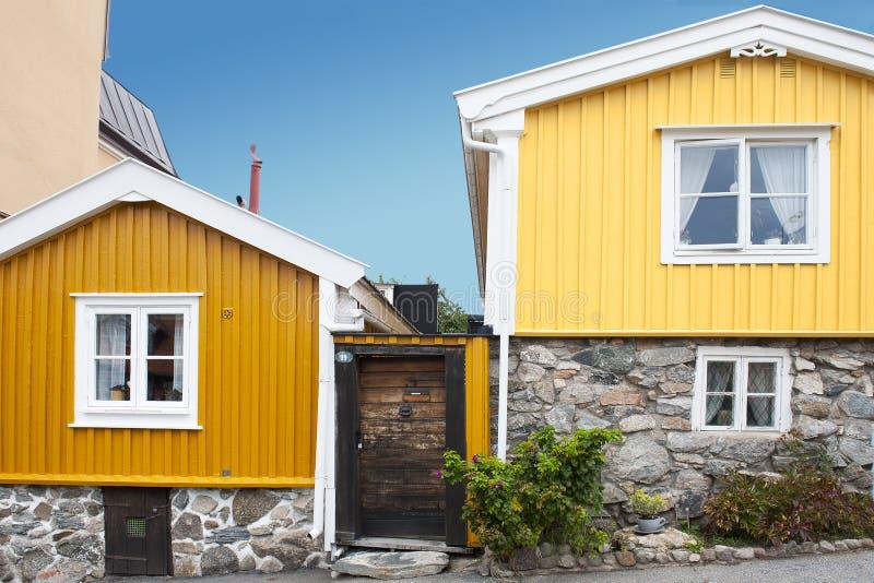 Skandinavische Architektur lizenzfreies stockbild