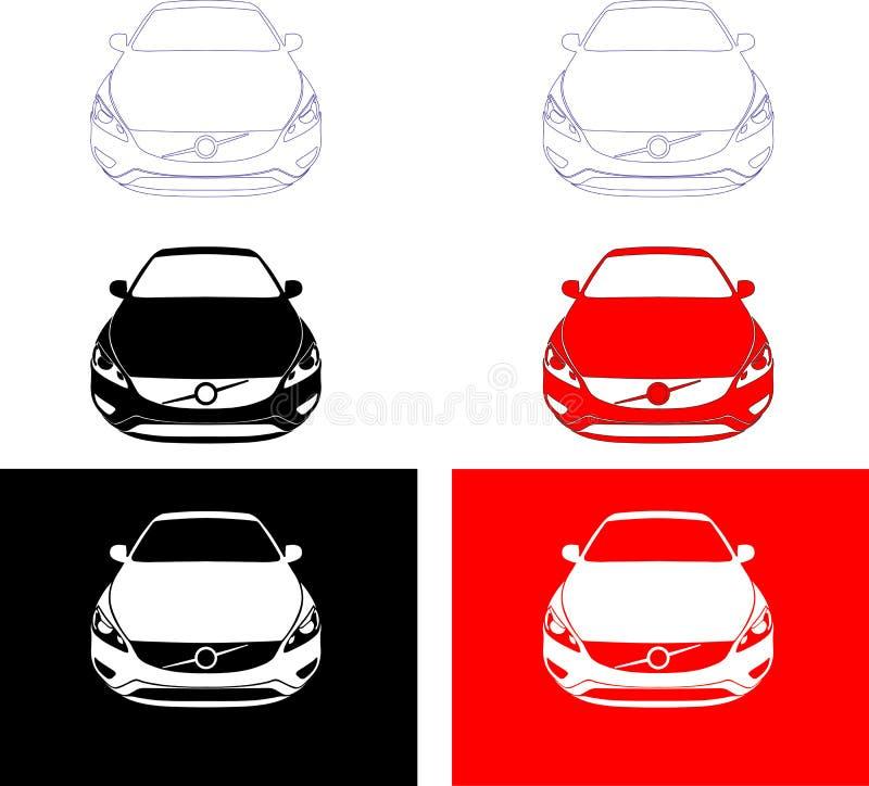 Skandinavische auto stock foto's