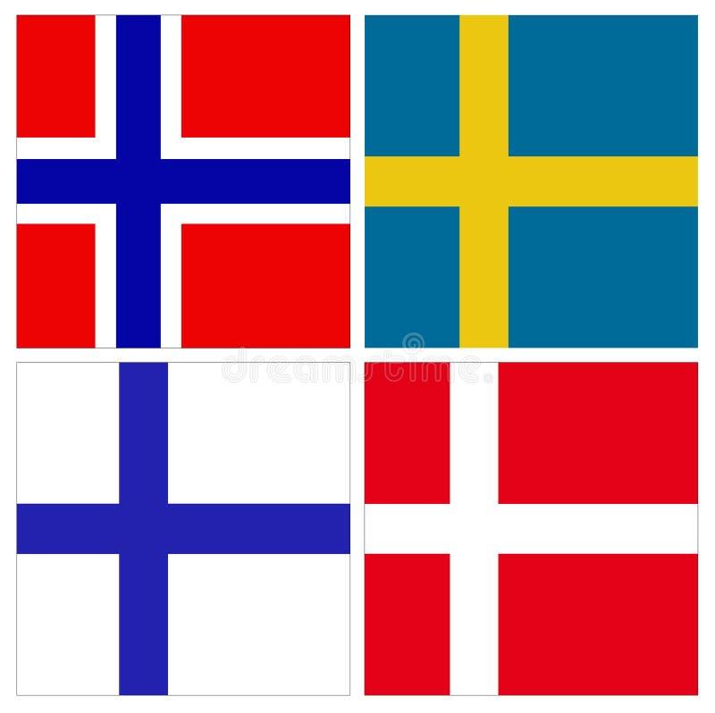 Länder In Nordeuropa Vektor