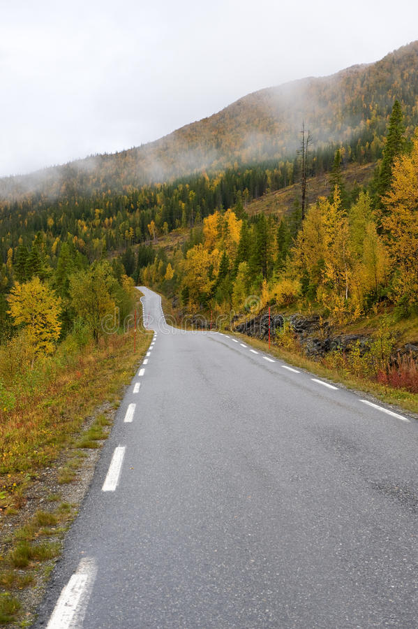 Skandinavische Straße lizenzfreie stockbilder
