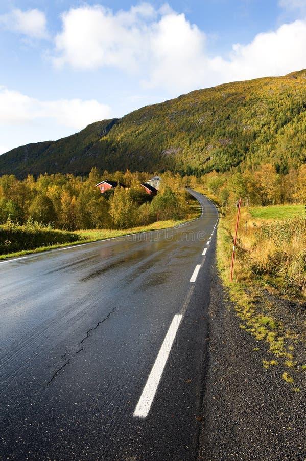 Skandinavische Straße stockbilder