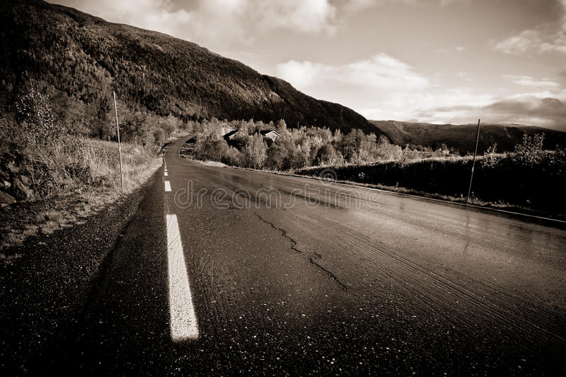 Skandinavische Straße stockfotografie