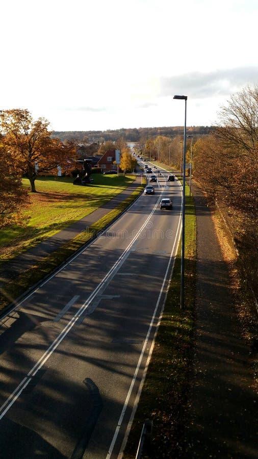 Skandinavische Straße lizenzfreie stockfotos