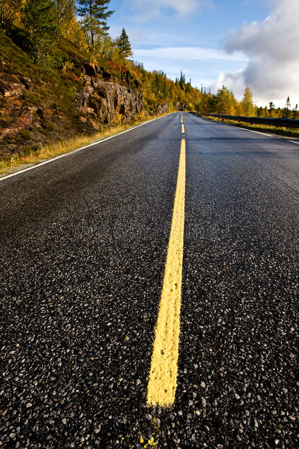 Skandinavische weg royalty-vrije stock afbeelding
