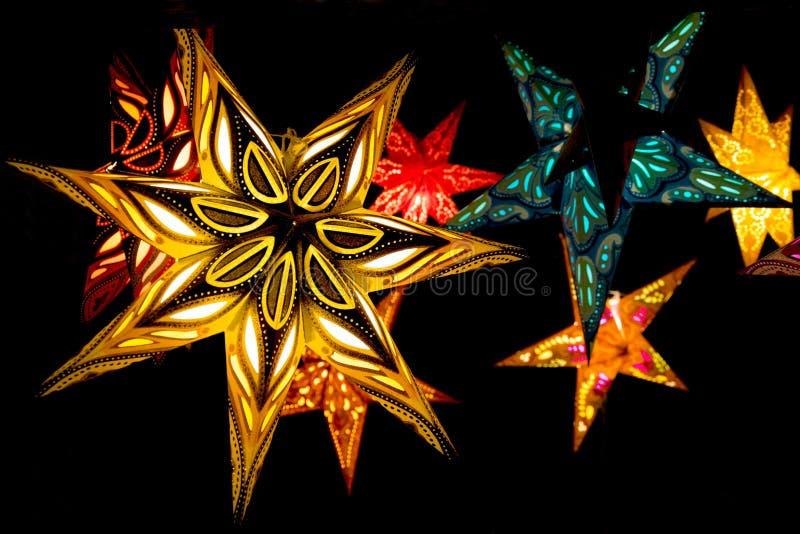 Skandinavische Weihnachtssterne lizenzfreies stockfoto