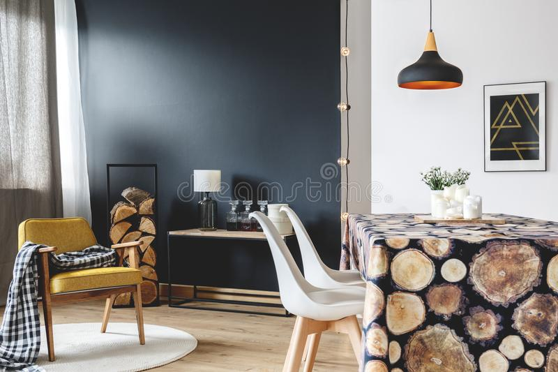 Skandinavischer Möbelinnenraum lizenzfreie stockfotos