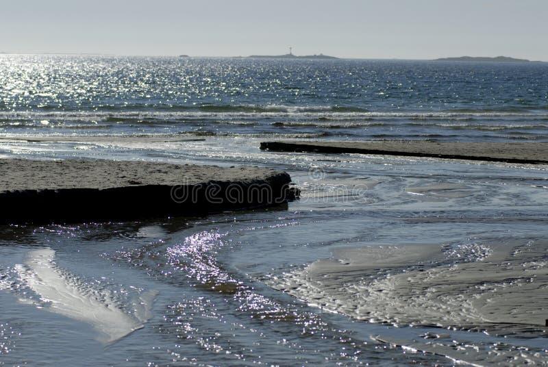 Skandinavischer Sandstrand lizenzfreies stockfoto