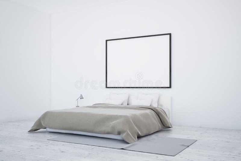 Skandinavisk sovruminre, affisch stock illustrationer
