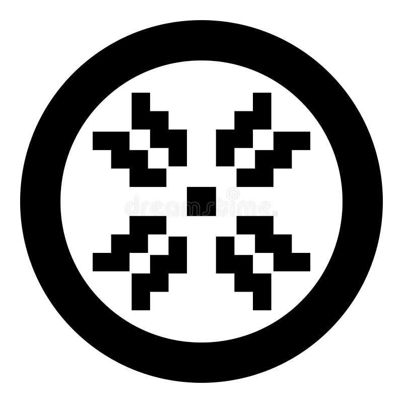 Skandinavisk vektor för färg för modellsymbolssvart i bild för stil för rund illustration för cirkel plan royaltyfri illustrationer