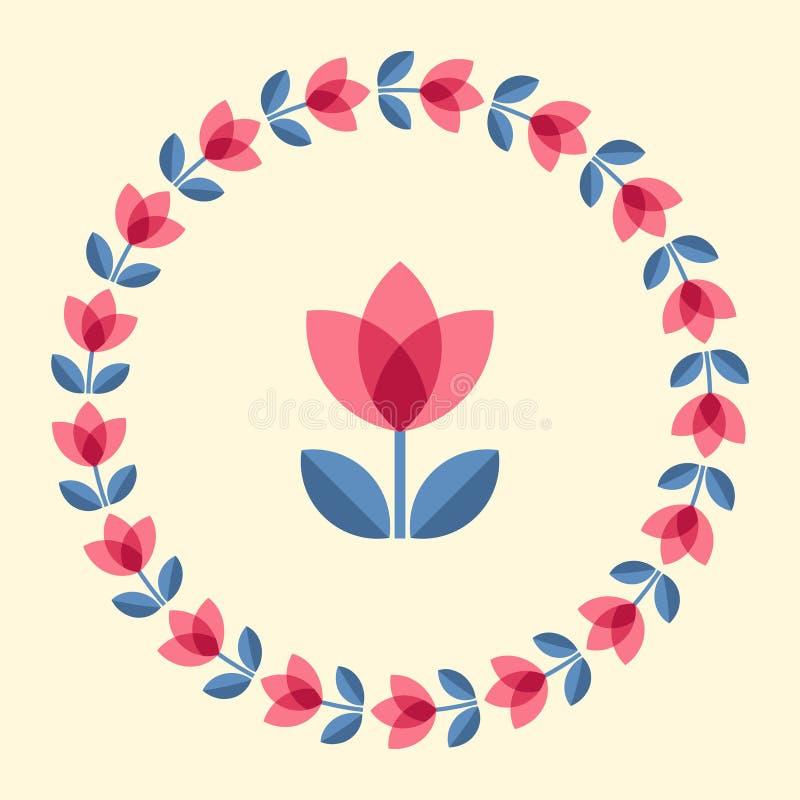 Skandinaviska blommor stock illustrationer