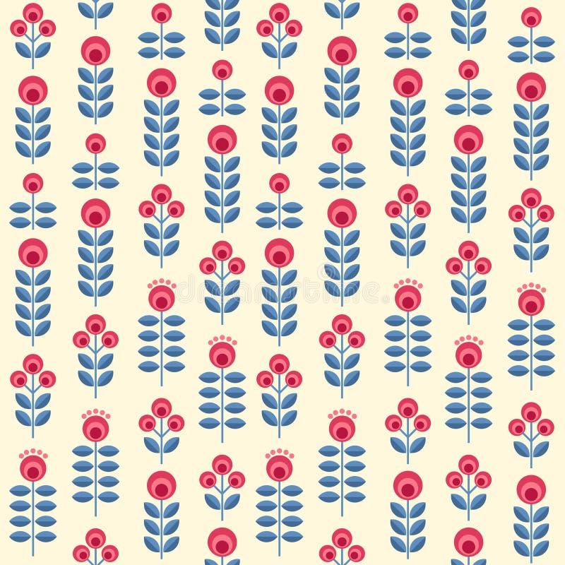 Skandinaviska blommor vektor illustrationer