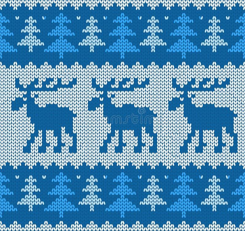 Skandynawa styl dziający wzór z deers obraz stock