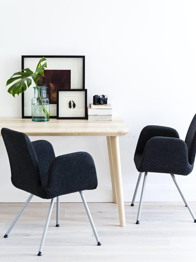 Skandynawa stylowy żywy pokój zdjęcie royalty free