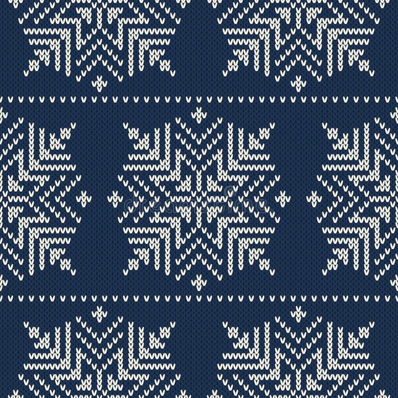Skandynawa stylowy bezszwowy trykotowy wzór z s ilustracja wektor