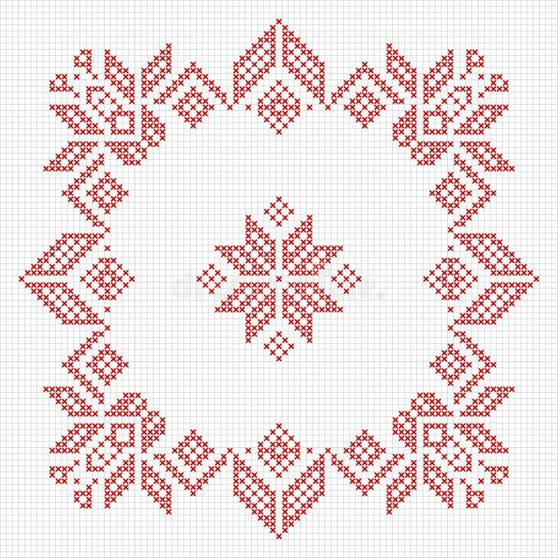 Skandynawa stylu krzyża ściegu wzór ilustracji