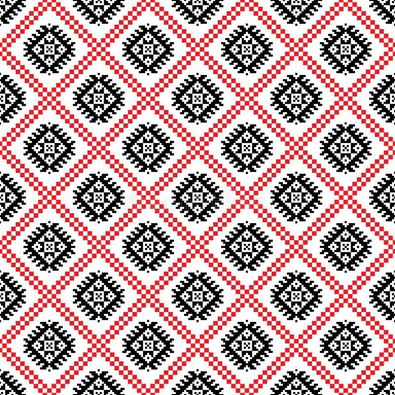 Skandynawa tradycyjny wzór Północny etniczny bezszwowy tło ilustracja wektor