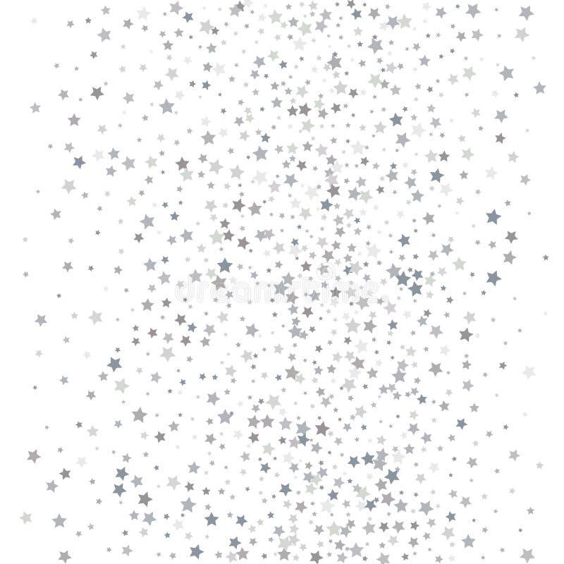 Skandynawa wzór z srebnymi gwiazdami Akcyjny wektor ilustracja wektor