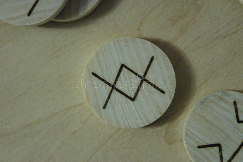 Skandynawska runes starsza osoba Futhark obrazy royalty free