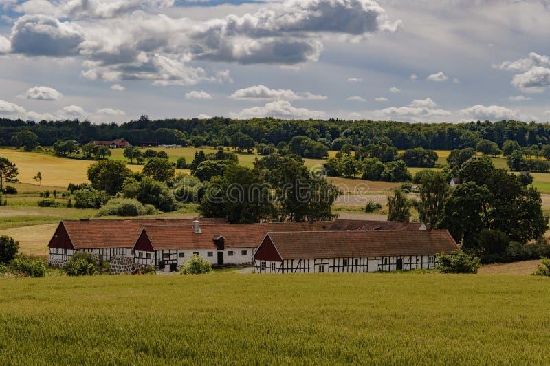 Skane Швеция ravlunda фермы Osterlen стоковая фотография