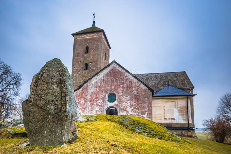 Skanela, Suecia - 1 de abril de 2017: Iglesia de Skanela, Suecia fotos de archivo libres de regalías