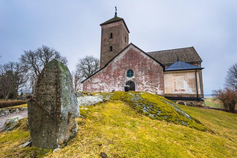 Skanela, Suecia - 1 de abril de 2017: Iglesia de Skanela, Suecia imágenes de archivo libres de regalías