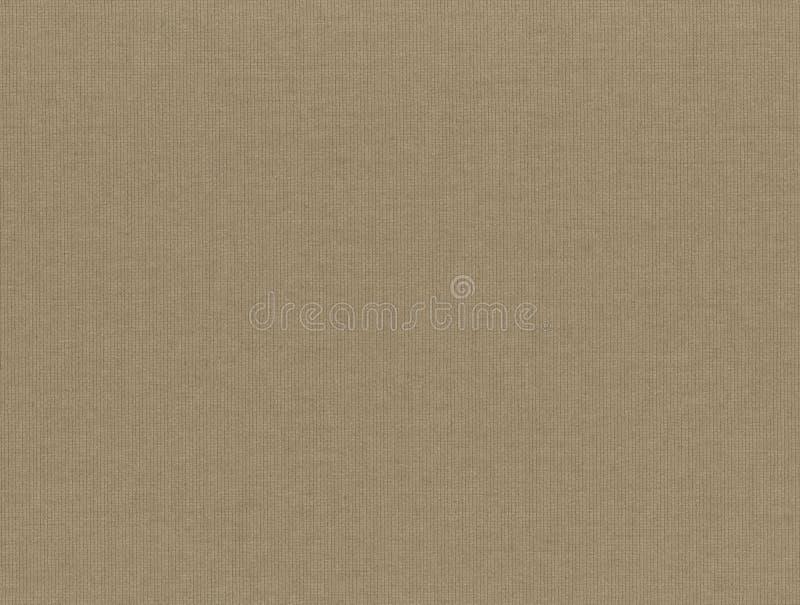 Skanirovaniya纹理粗砺的浅褐色的奶油色织品-自然帆布篷布 免版税库存照片