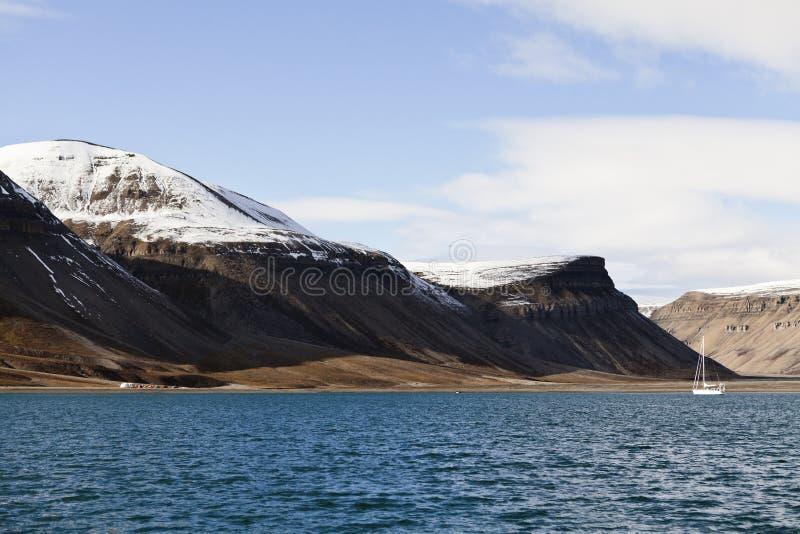 Skansbukta, Svalbard, Norwegen lizenzfreies stockfoto