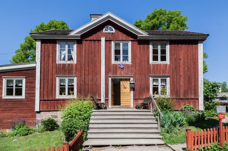 Skansen parkerar Stockholm Sverige arkivfoton