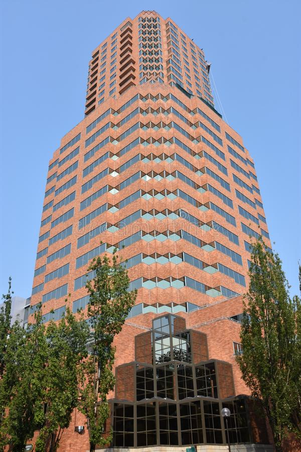 Skanska USA Building in Portland, Oregon royalty free stock photo