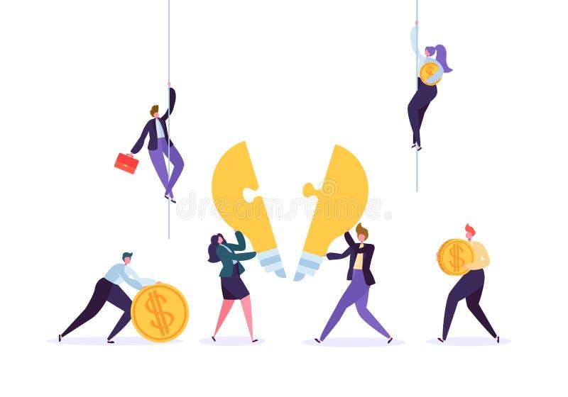 Skapa begrepp för innovation för idéteamworkaffär stock illustrationer
