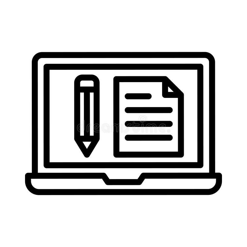 Skapa den tunna linjen vektorsymbol stock illustrationer