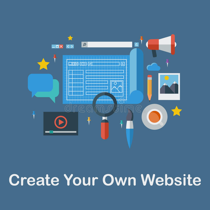 Skapa din egen Website royaltyfri bild