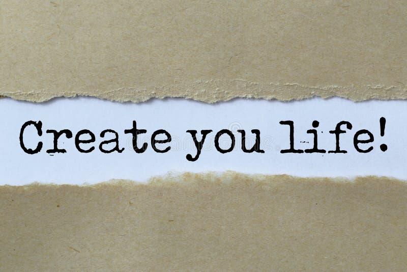 Skapa din livöverskrift royaltyfri foto