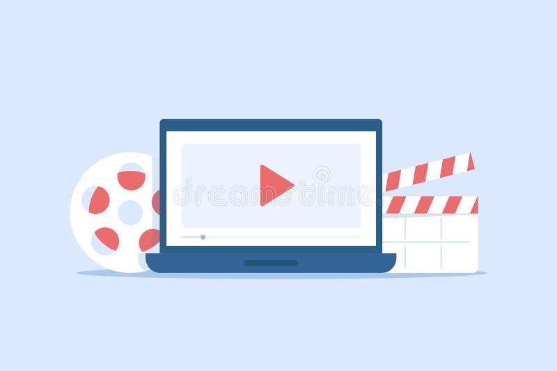 Skapa videoinnehåll och tjäna pengar royaltyfri illustrationer