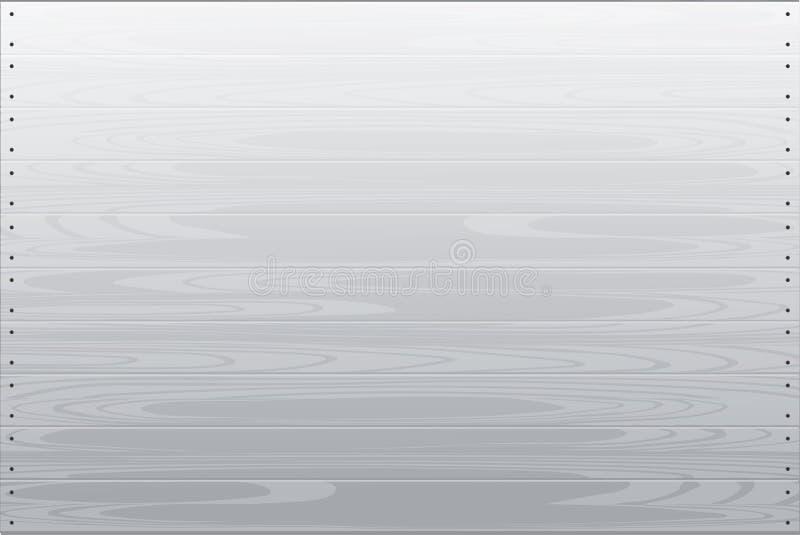 Skapad vit wood textur för vektordiagram tecknad hand royaltyfri illustrationer
