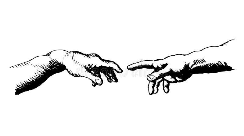 Skapelse av Adam vektor illustrationer